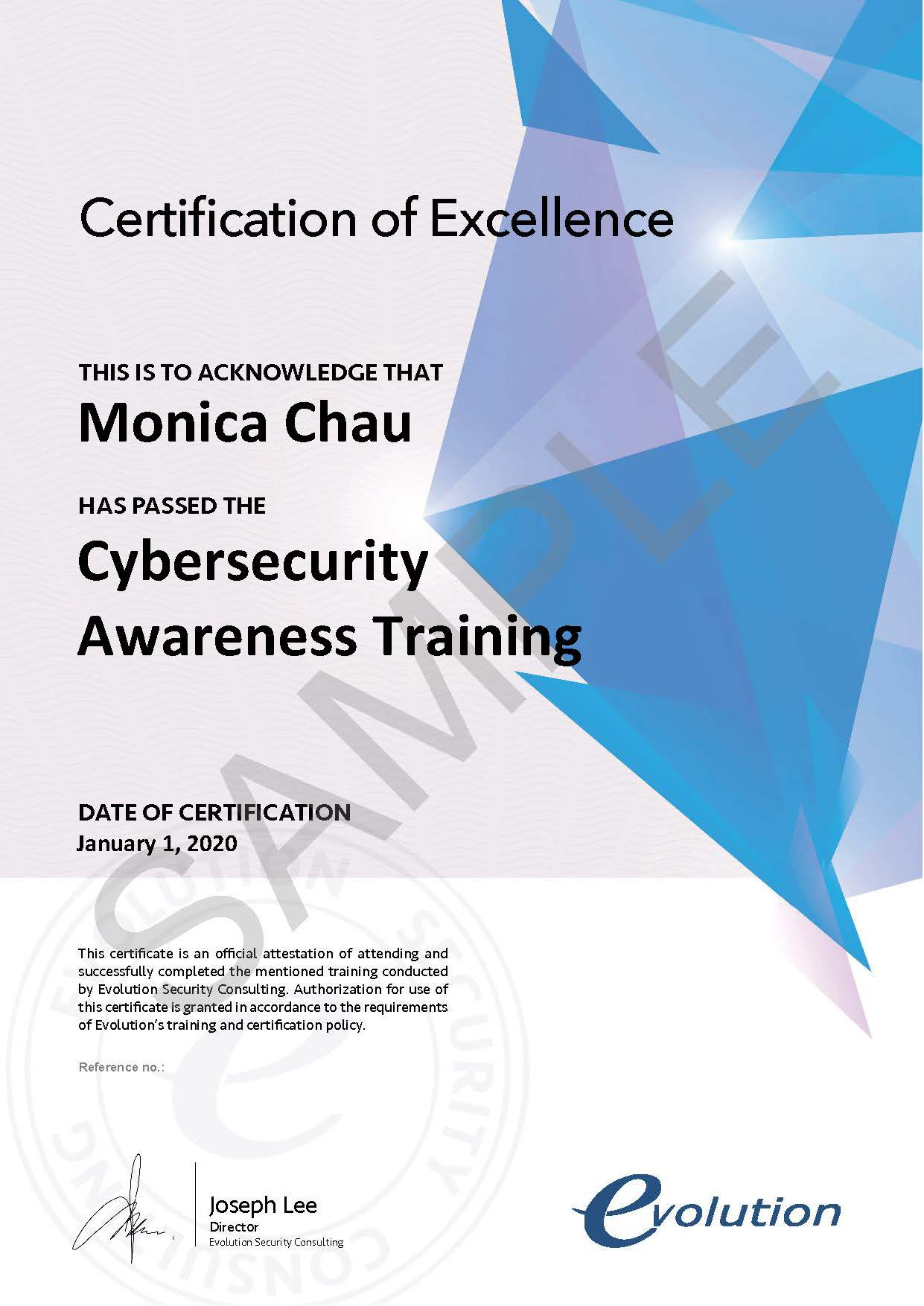 Cybersecurity_Awareness_Training_Certificate_SAMPLE